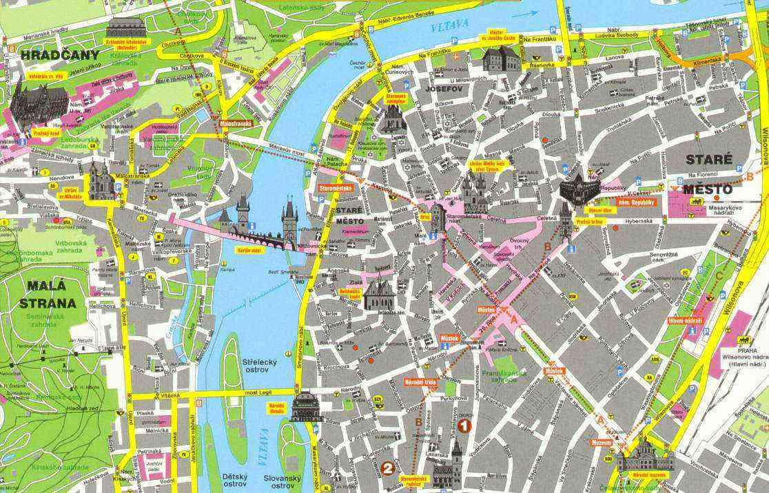 Metro Prag Karte.Die 10 Prager Stadtbezirke